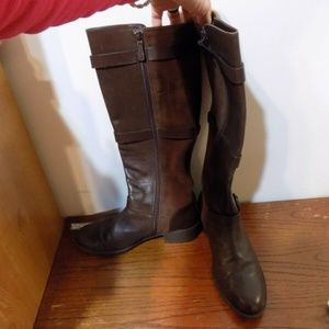 COLE HAAN Brown Leather and Suede Boots, 9B